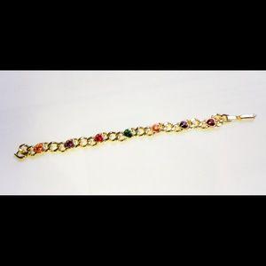Jewelry - Rhinestone Heart Necklace NWOT