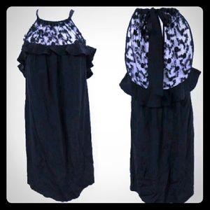 Rebecca Taylor Dresses & Skirts - Rebecca Taylor Silk Lace Ruffle Shift Dress
