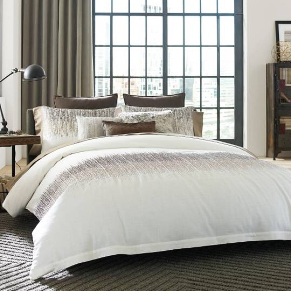 Kenneth Cole Reaction Bedding | Kenneth Cole Etched Duvet Cover