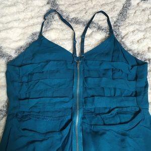 Teal Cage Back Dress