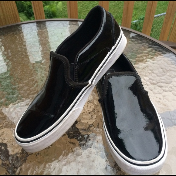vans shiny slip on
