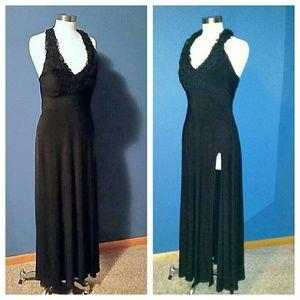 ONYX Nite black floor length cocktail dress