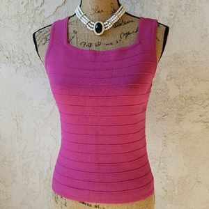 Joseph A.  Tops - 233) Magenta sleeveless sweater top