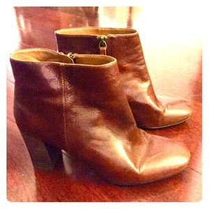 Nine West Shoes - Nine West Cognac~Whiskey Brown Ankle Boots 8
