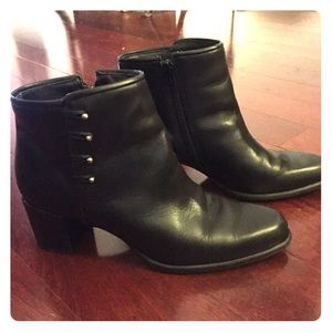 Naturalizer Shoes - Naturalizer Black Leather Ankle Boot Bootie 8N