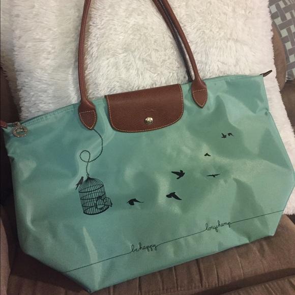 7c4d9ef77c Longchamp Handbags - Longchamp Limited edition Birdcage Blue Tote