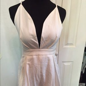 6819a530e8a4 Hot Miami Styles Pants - Off White Open Back Belted Romper