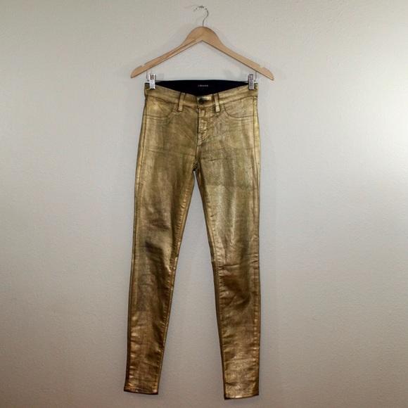 0e62fd8b51a J Brand Pants - J Brand gold jeans