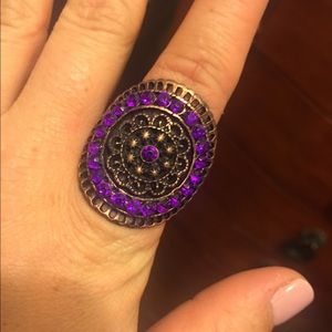 Jewelry - Bronze and purple costume ring, one size