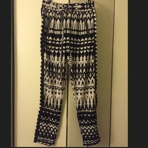 Pants - FashionWeb black and white pants, S