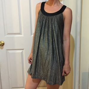 Betsey Johnson Dresses & Skirts - Betsey Johnson Silver Metallic Babydoll Dress
