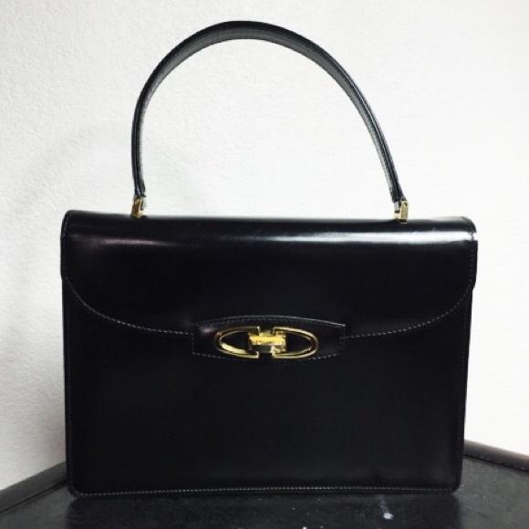 344a77db8a6 Vintage Bags   Black Leather 1950s Purse   Poshmark