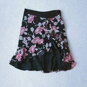 LAUNDRY silk flounce skirt