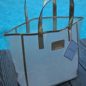 fae6eeb2814971 Michael Kors Bags - Designer MICHAEL KORS Clear & Gold Tote Bag, ...