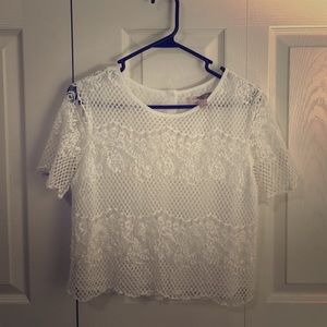 F21 Contemporary Lace Blouse
