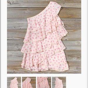 Spool 72 Dresses & Skirts - NEW***Spool 72 One shoulder ruffle bird dress