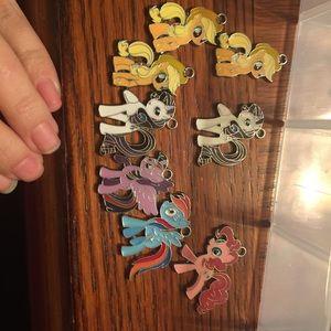 my little pony Jewelry - My little pony charm lot