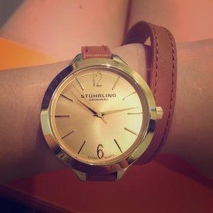 Stuhrling Original Accessories - Stuhrling Leather Strap Watch