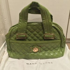 Marc Jacobs patent leather Ursula bowler bag