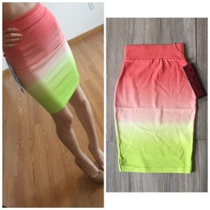 WOW couture Dresses & Skirts - S A L E❗️NWT Wow Couture Ombre Tight Skirt