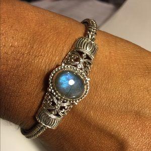 Labradorite Sterling Silver Bracelet Women Jewelry