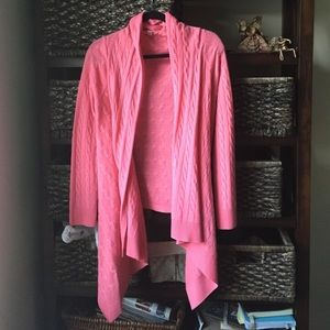Pink Lilly Pulitzer 100% cashmere sweater