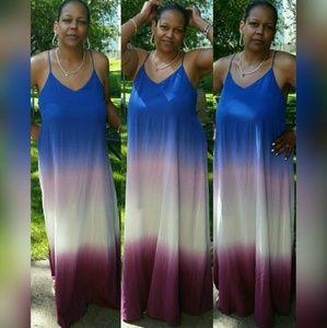 SALE! Luxurious Ombre Maxi Dress  - S