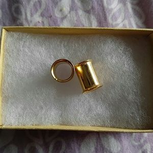 Jewelry - 0 gauge gold stainless steel tunnels