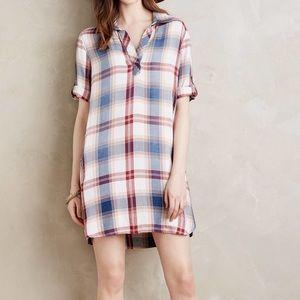 Anthropologie Cloth &stone plaid tunic dress XS