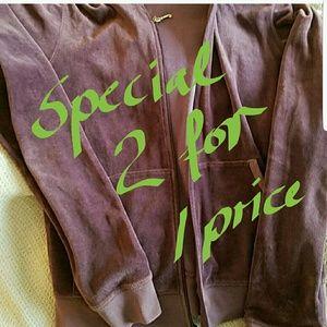 2 Juicy Couture hoodies bundle