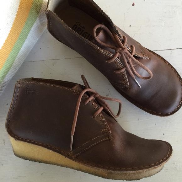 cef44149f63 Clarks Shoes -  Clarks  originals crepe sole wedge booties