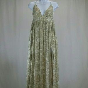 Novella Royale Dresses & Skirts - Novella Royale Women's Tan Maxi Dress - NWT