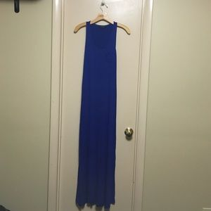 Blue Long dress with breast pocket