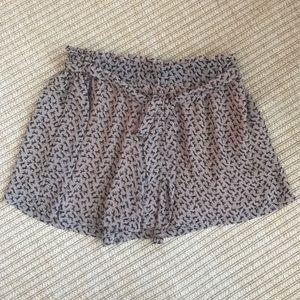 Mine Pants - Mine High Waisted horse print shorts with sash