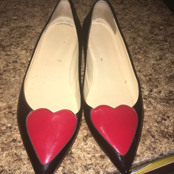 christian louboutin flat heart shoes