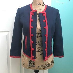 H&M Jackets & Blazers - H&M Navy & Red Jacket