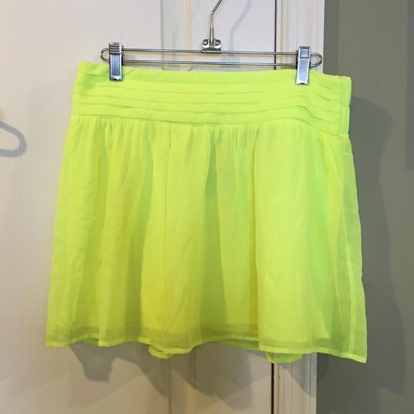 Charlotte Russe Dresses & Skirts - Neon Skater Skirt