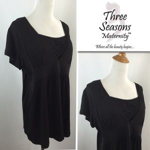 Three Seasons Maternity Tops - NWT Three Seasons Maternity Nursing Top Shirt