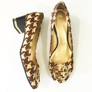 Tory Burch Shoes - Rare Tory Burch Houndstooth Pony Hair Heels