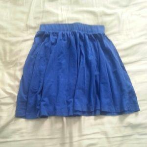 forever 21 royal blue skater skirt from esther s closet