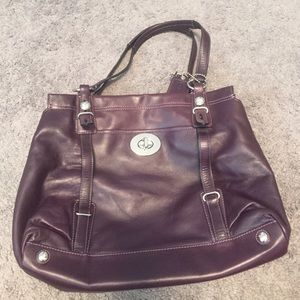 Real Coach leather bag