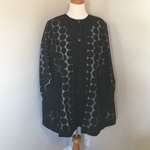 Jackets & Blazers - Designer Lightweight Polka Dot Swing Coat