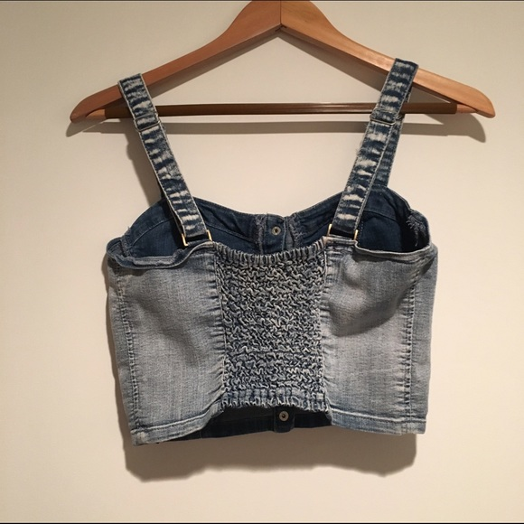 Forever 21 Tops - 🔥Denim Bustier Crop Top 🔥
