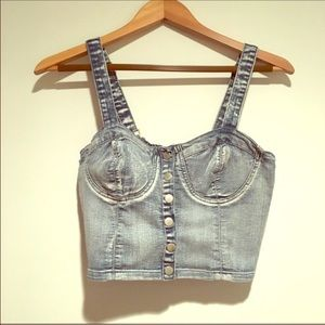 🔥Denim Bustier Crop Top 🔥