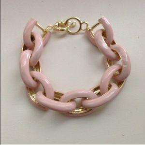 Pink Enamel Link Bracelet