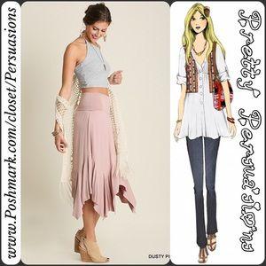 Pretty Persuasions Dresses & Skirts - SALE 🎉NWT Blush Handkerchief Midi Skirt