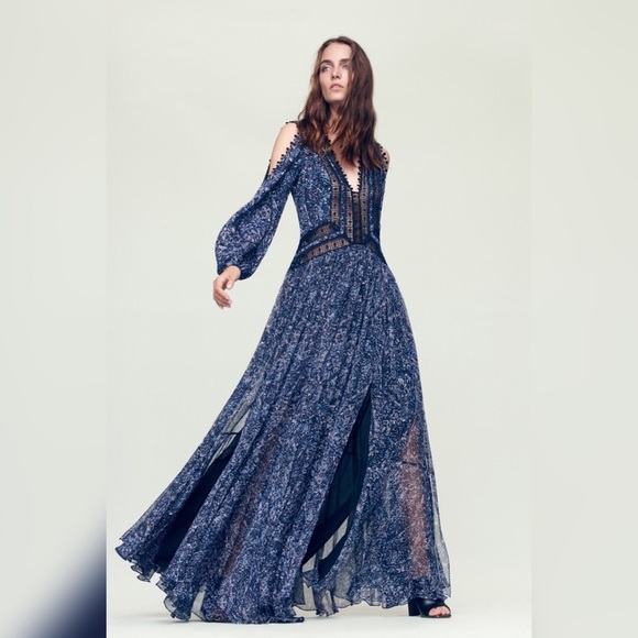 Rebecca Taylor Dresses | Block Print Maxi Dress Size 10 | Poshmark