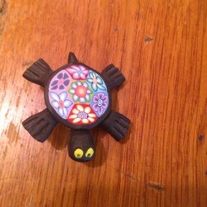 Colorful Turtle Pin.