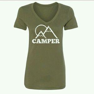 """Salt Lake Clothing Tops - NWT GREEN """"CAMPER"""" TEE!"""