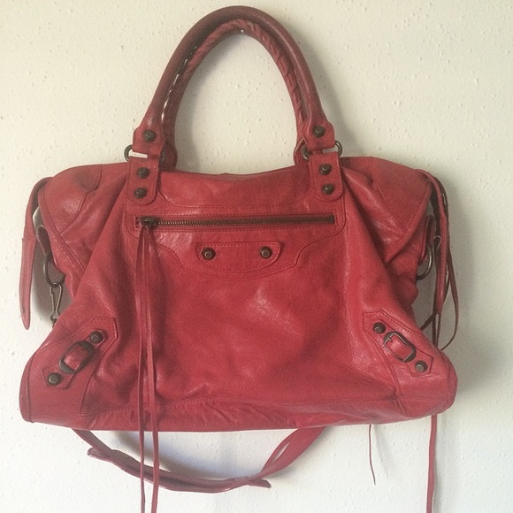 2d7a68964040 Balenciaga Handbags - Authentic Balenciaga red city bag